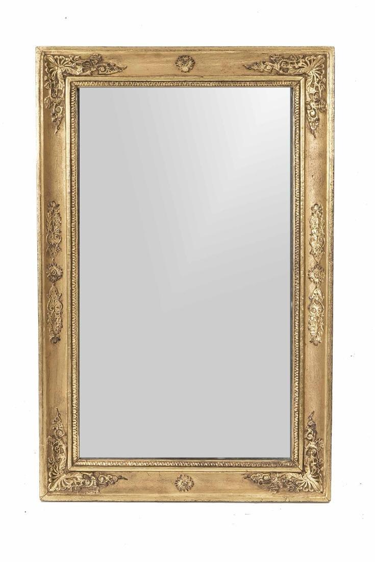 Spiegel, Holz und Stuck vergoldet, Empirestil, um 1900,