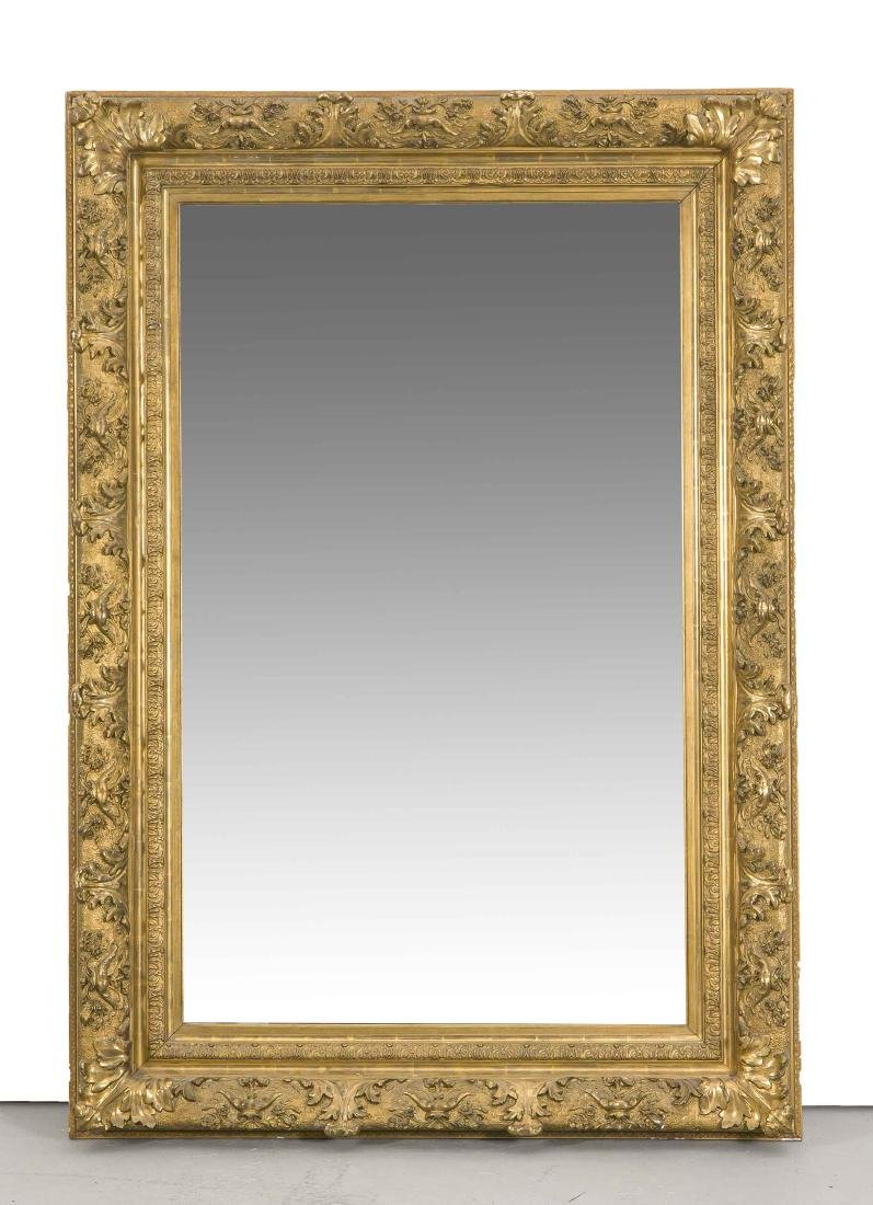 Spiegel, Holz, Stuck vergoldet, um 1900, reich