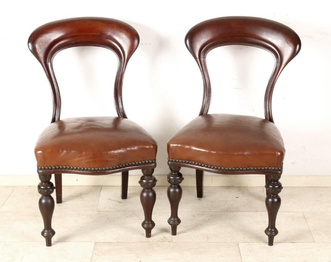 Satz von vier Stühlen, Spätbiedermeier um 1840,