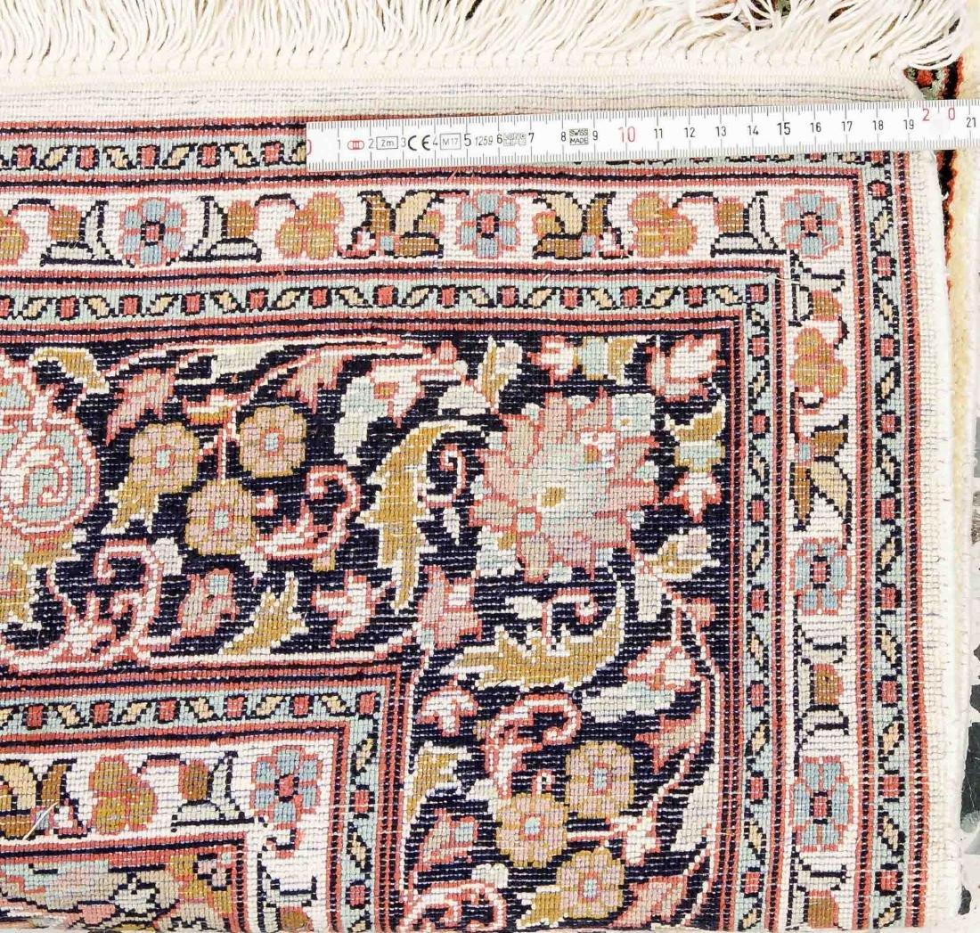 Silk carpet, 125 x 187 cm   German:   Seidenteppich, - 2