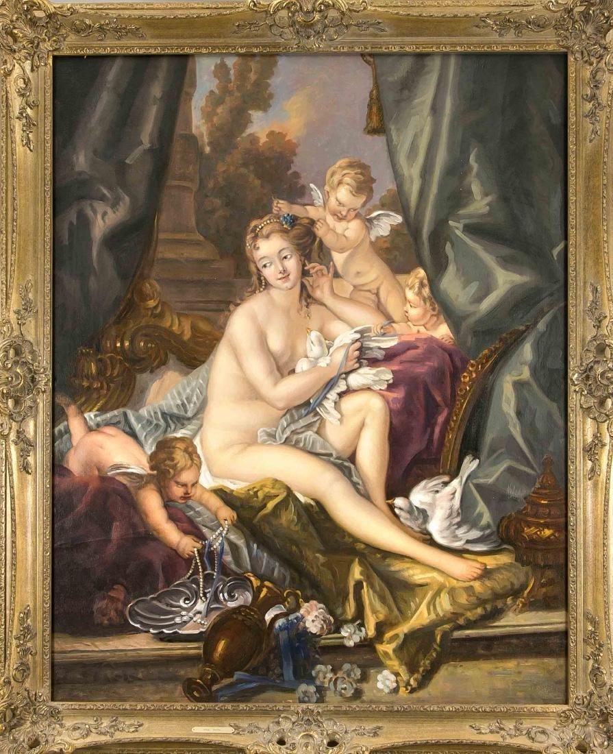 Kopist Ende 20. Jh., Venus nach Boucher, Öl/Lwd.,