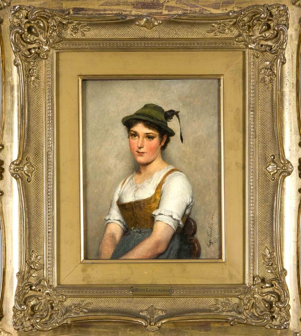Hugo Kauffmann (1844-1915), peasant girl in Upper