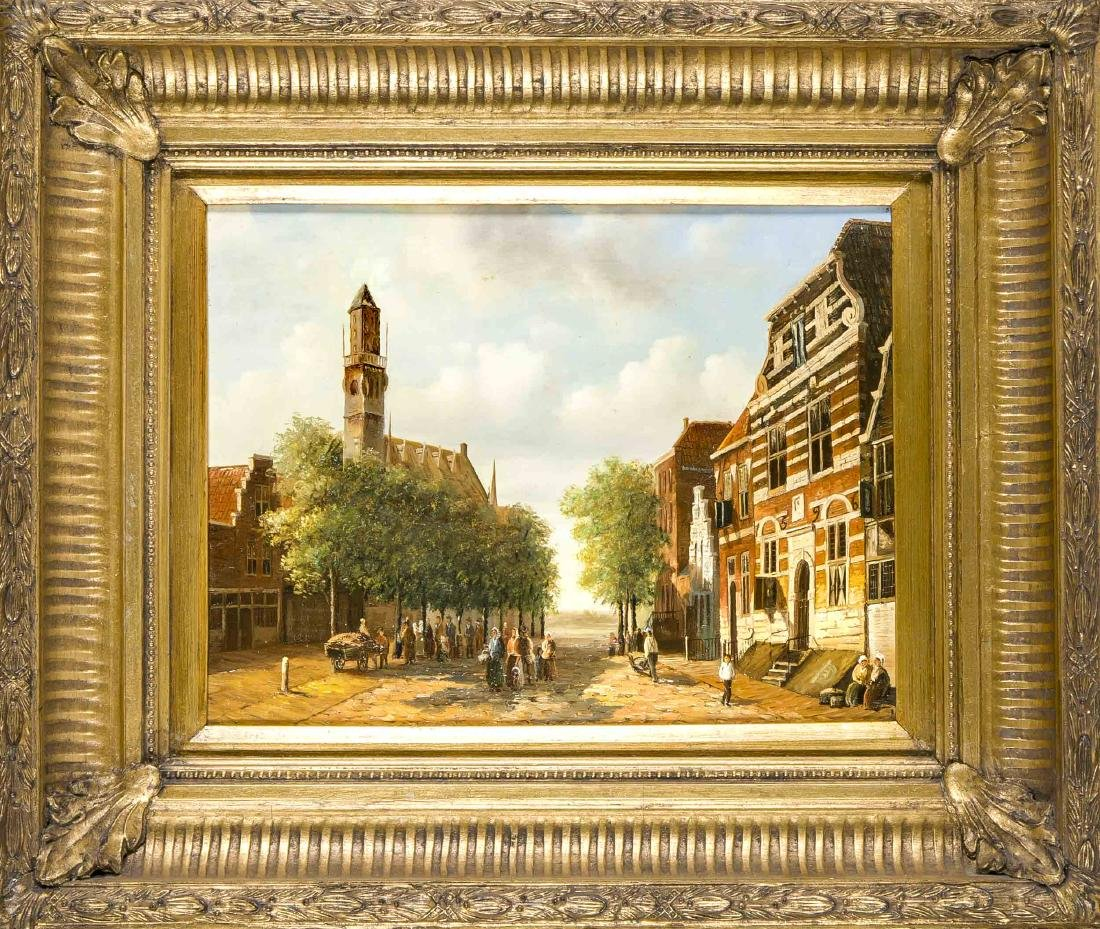 Dutch painter 2nd half of the 20th century, view of the