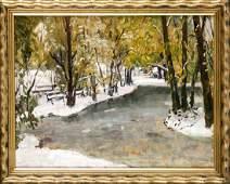 Otto Thiele 18701955 painter in Berlin Winter in
