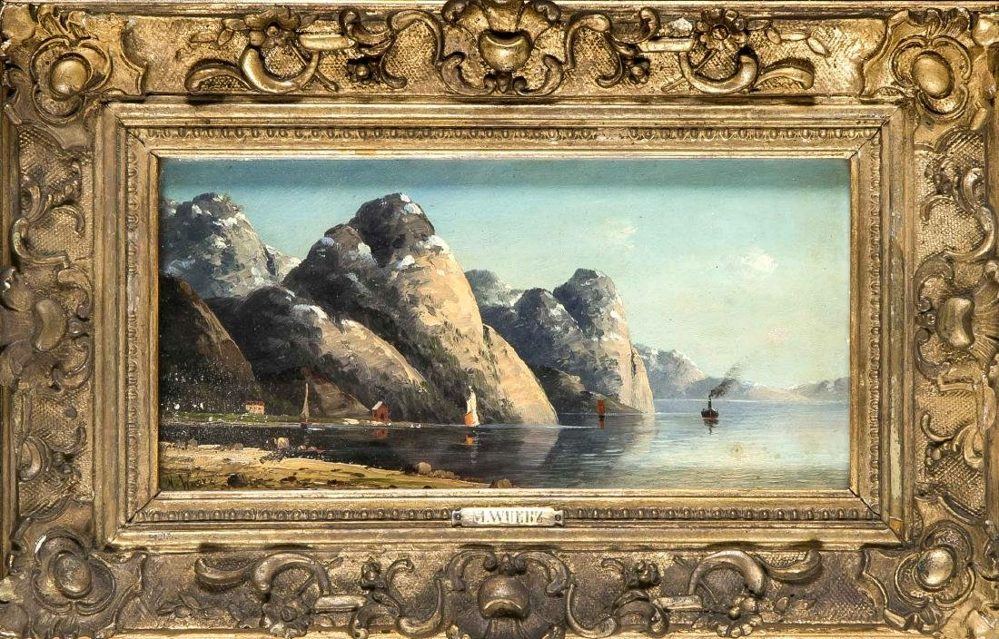 M. Wuerz, Landschaftsmaler Ende 19. Jh., norwegischer