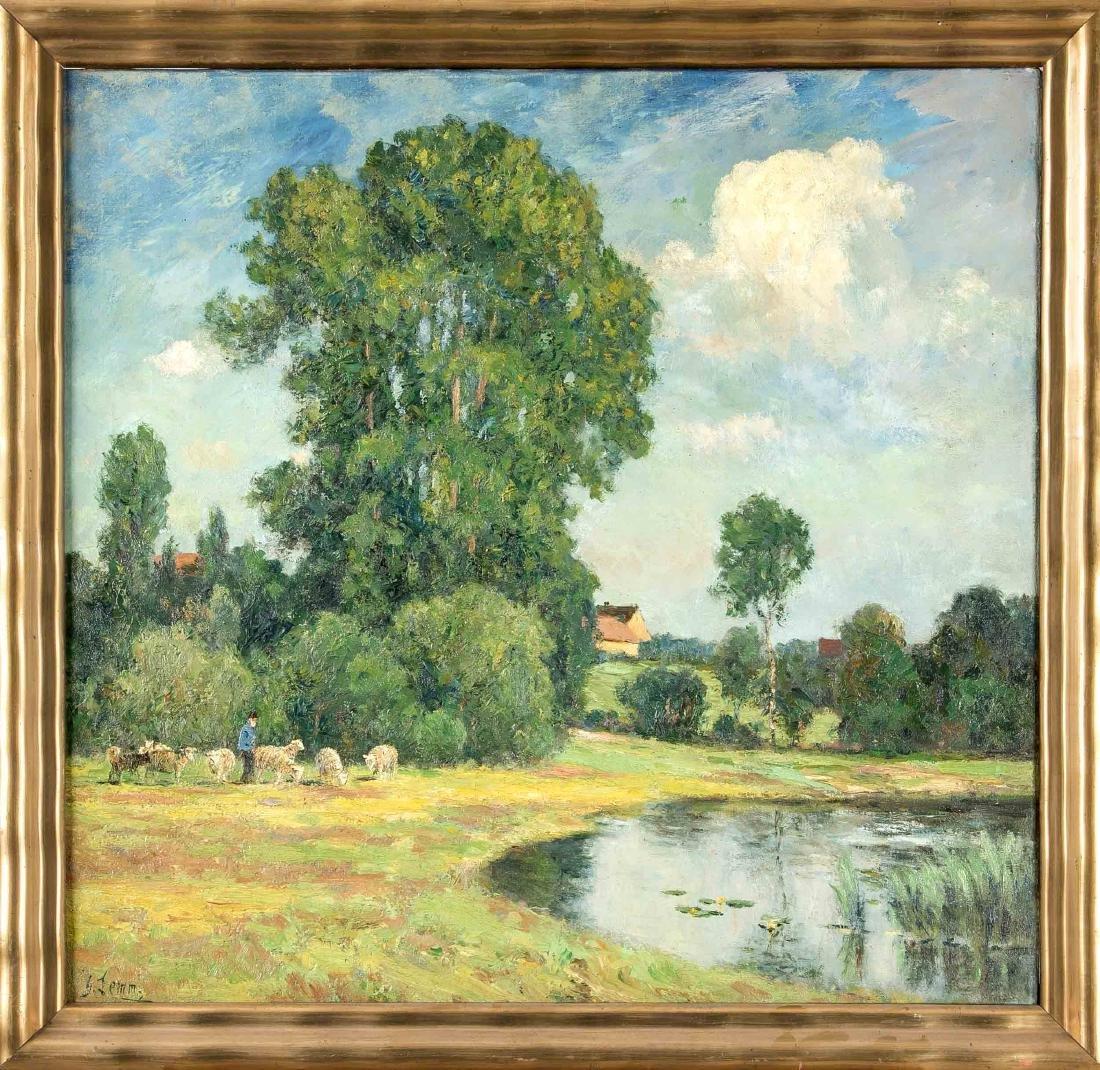 Georg Lemm (1867-1940), Saxon landscape painter and