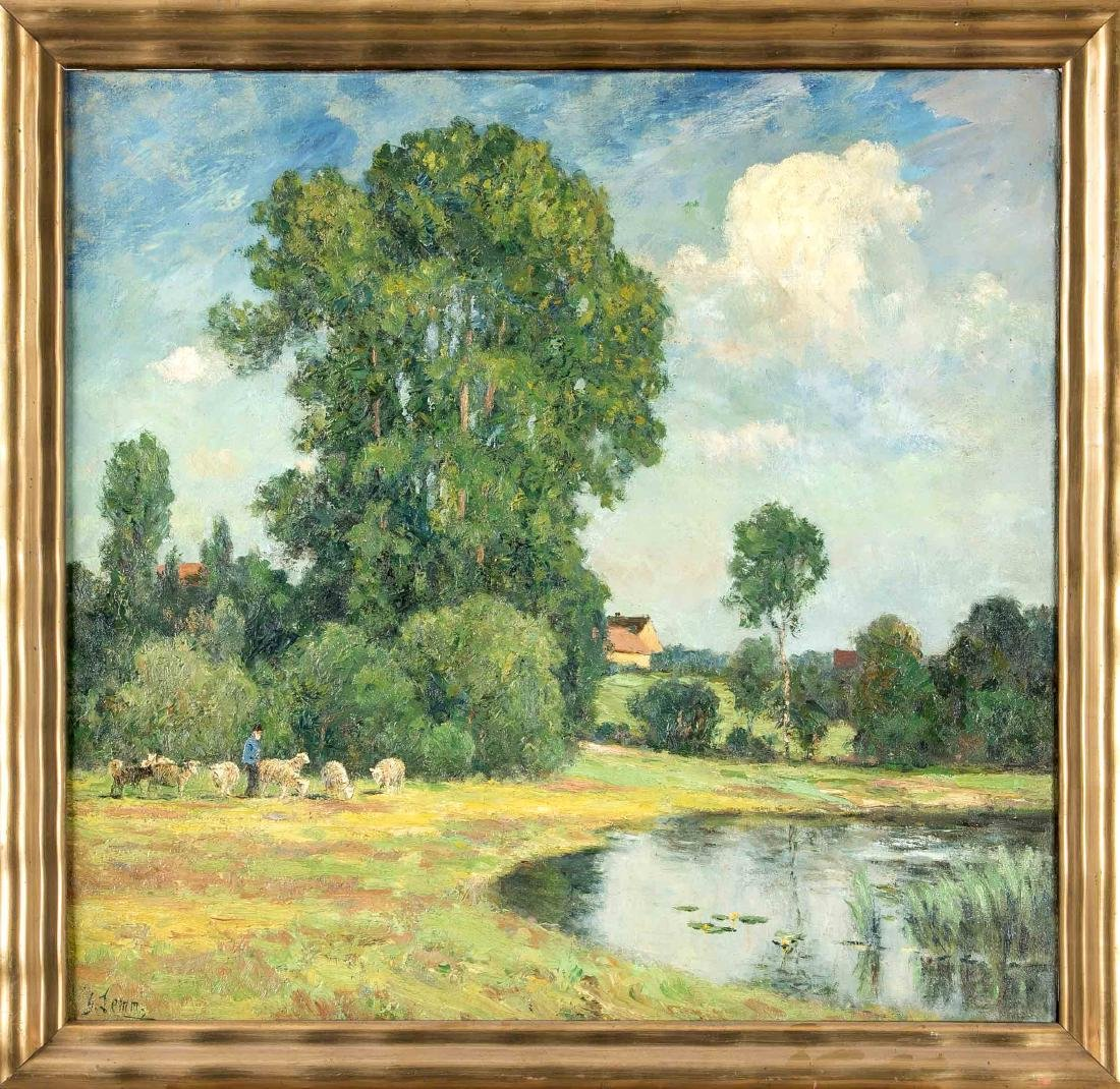 Georg Lemm (1867-1940), Saxon landscape painter and