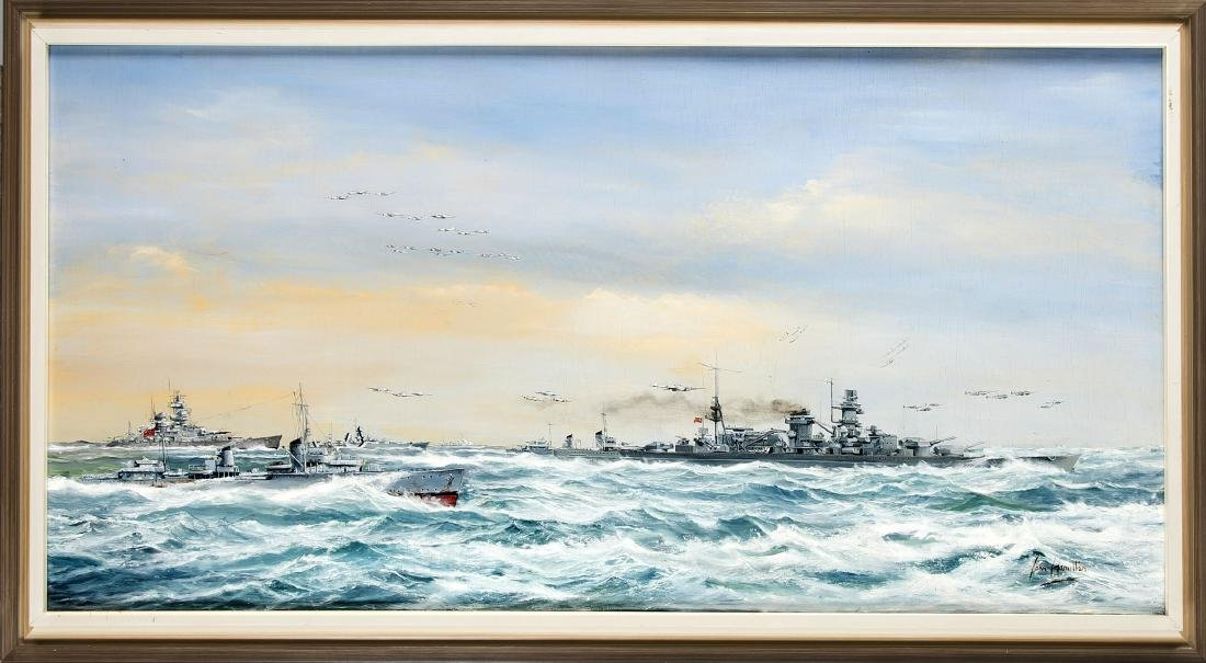 John Hamilton (1919-1993), British marine painter,