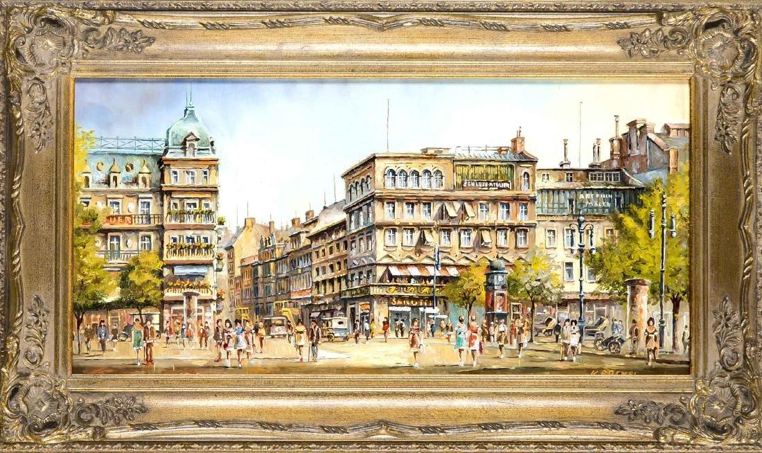 Klaus Rochel (*1936), Berliner Ansichtenmaler, zwei