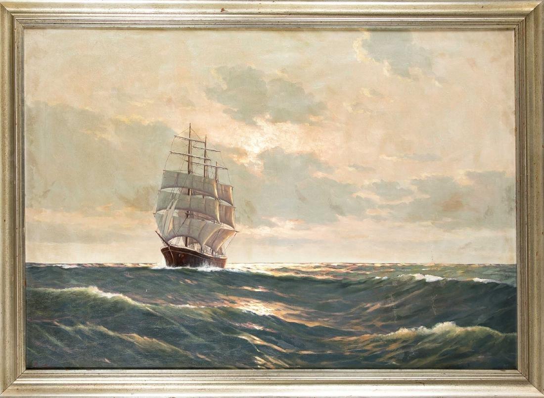 Alfred Jensen (1859-1935), Hamburger Marinemaler,