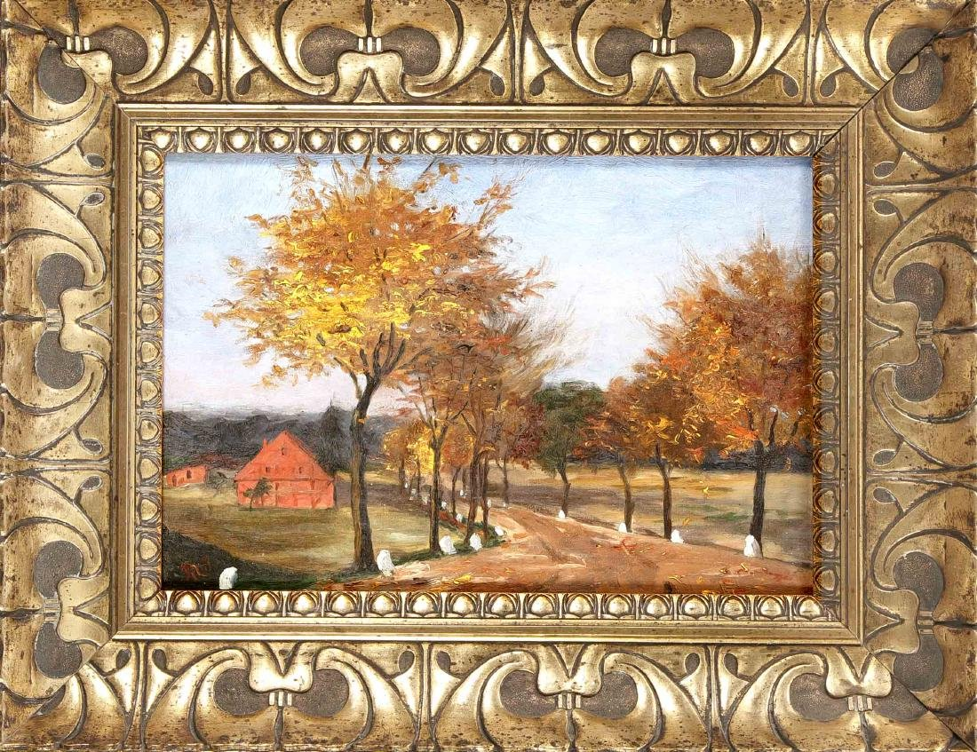 Monogrammist M.S., landscape painter around 1910,