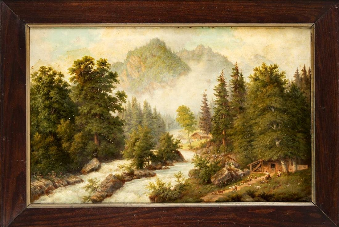 August Burckhardt, landscape painter around 1900,