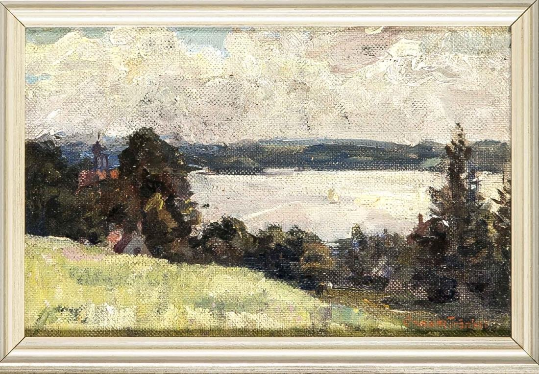 Clemens Frankel (1872-1944), two small landscapes,