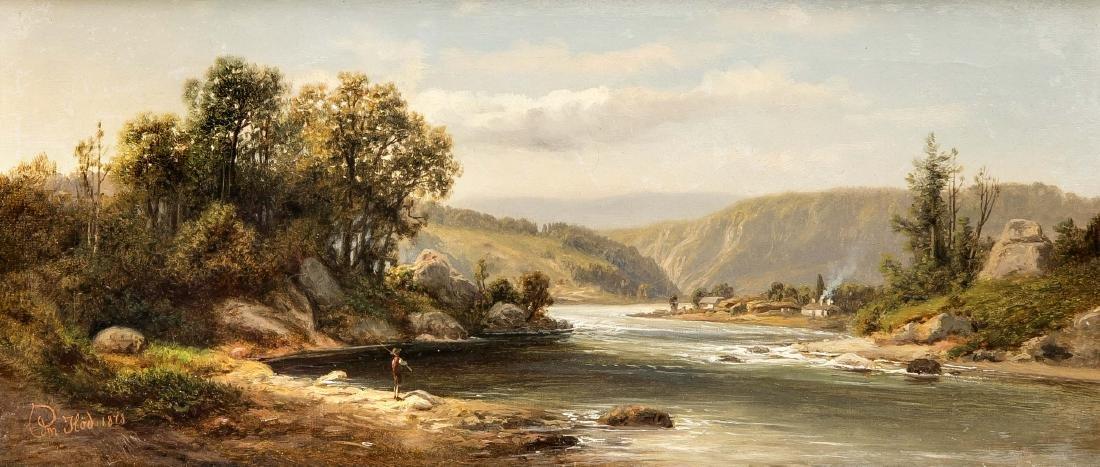 Edmund Höd (active ca 1861-1888), Austrian landscape