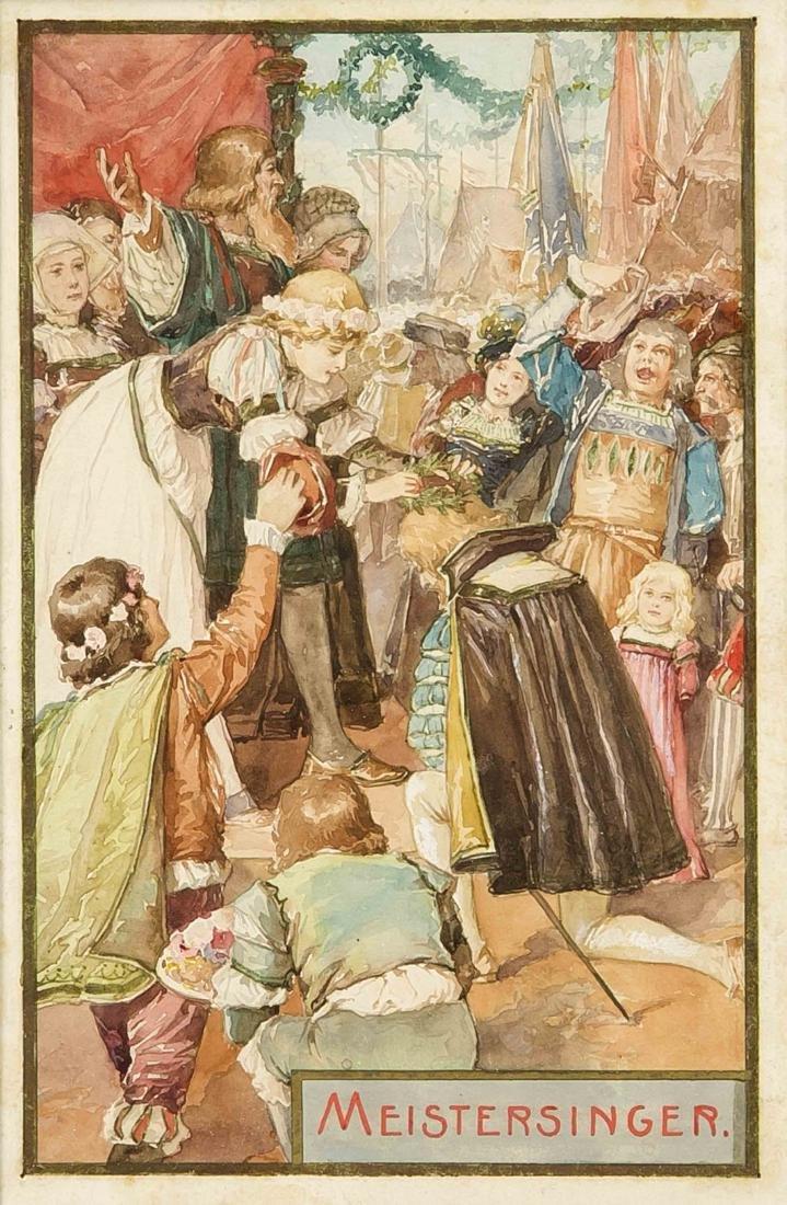 Anonymer Illustrator Ende 19. Jh., Konvolut von vier