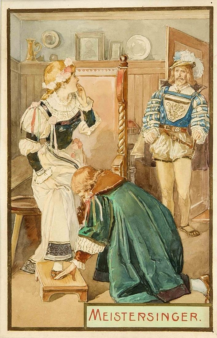 Anonymer Illustrator Ende 19. Jh., Konvolut von vier - 3