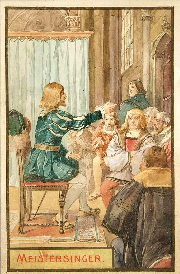 Anonymer Illustrator Ende 19. Jh., Konvolut von vier - 4