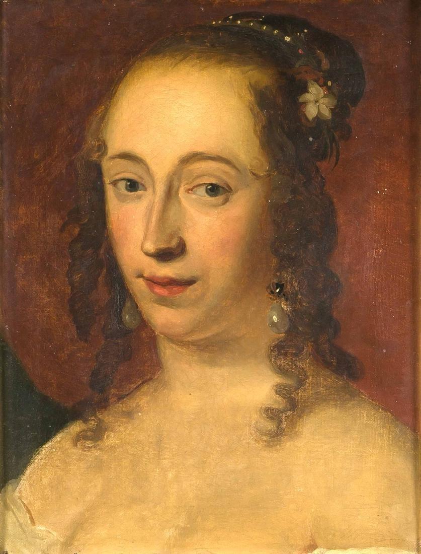 Bildnismaler Mitte des 19. Jh., Brustportrait einer