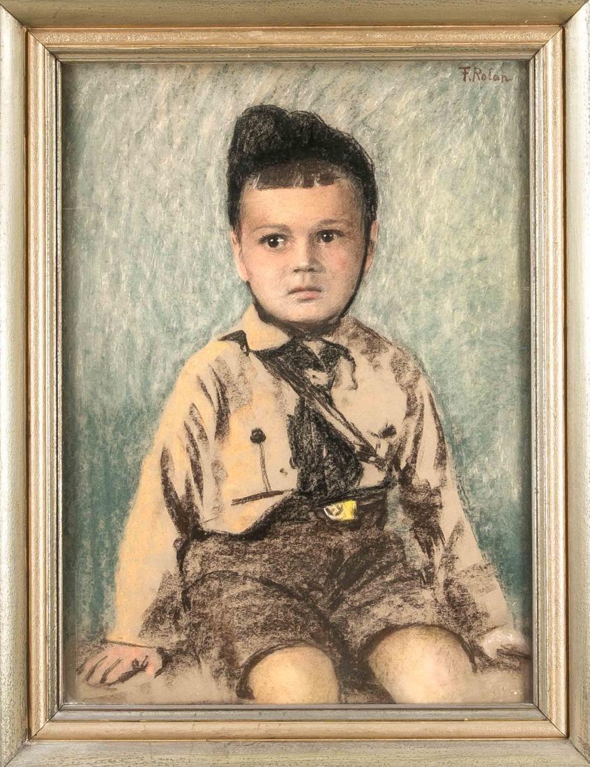 F. Nolan, Bildnismaler, Knabe in HJ-Uniform, lebendig