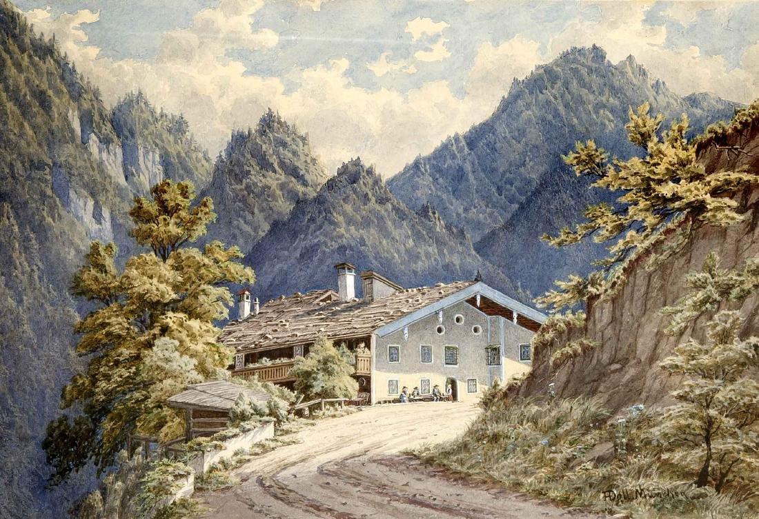 Anton Doll (1826-1887), Architekturmaler in München,