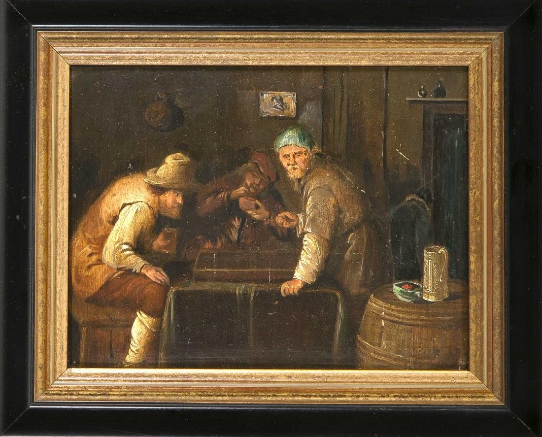 19th century painter, player in the tavern, probably