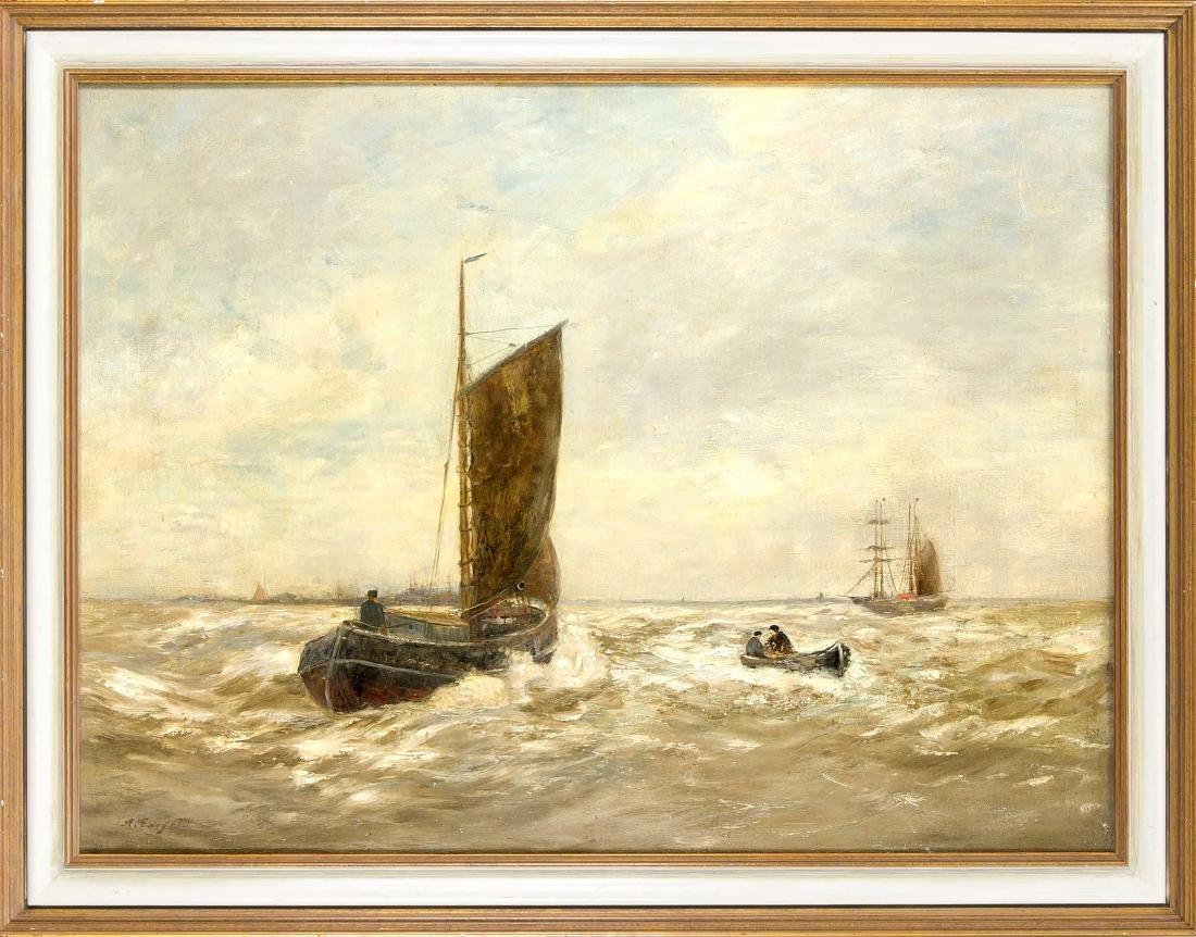 Alexander Essfeld (1874-1939), Düsseldorf Marinemaler,