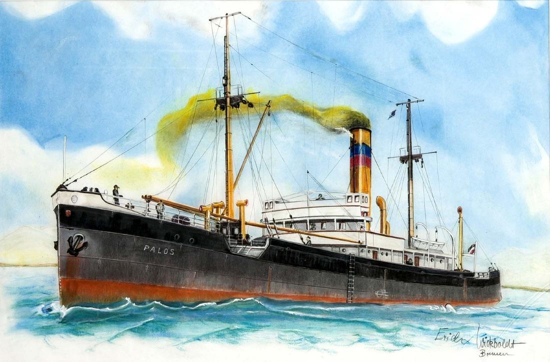 Erich Wickboldt, contemporary Bremer marine painter,