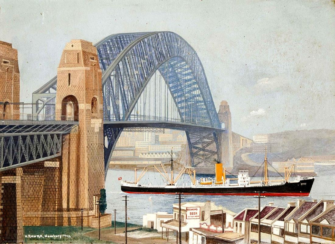 H. Richter, Hamburg Marine painter 1st half of the 20th