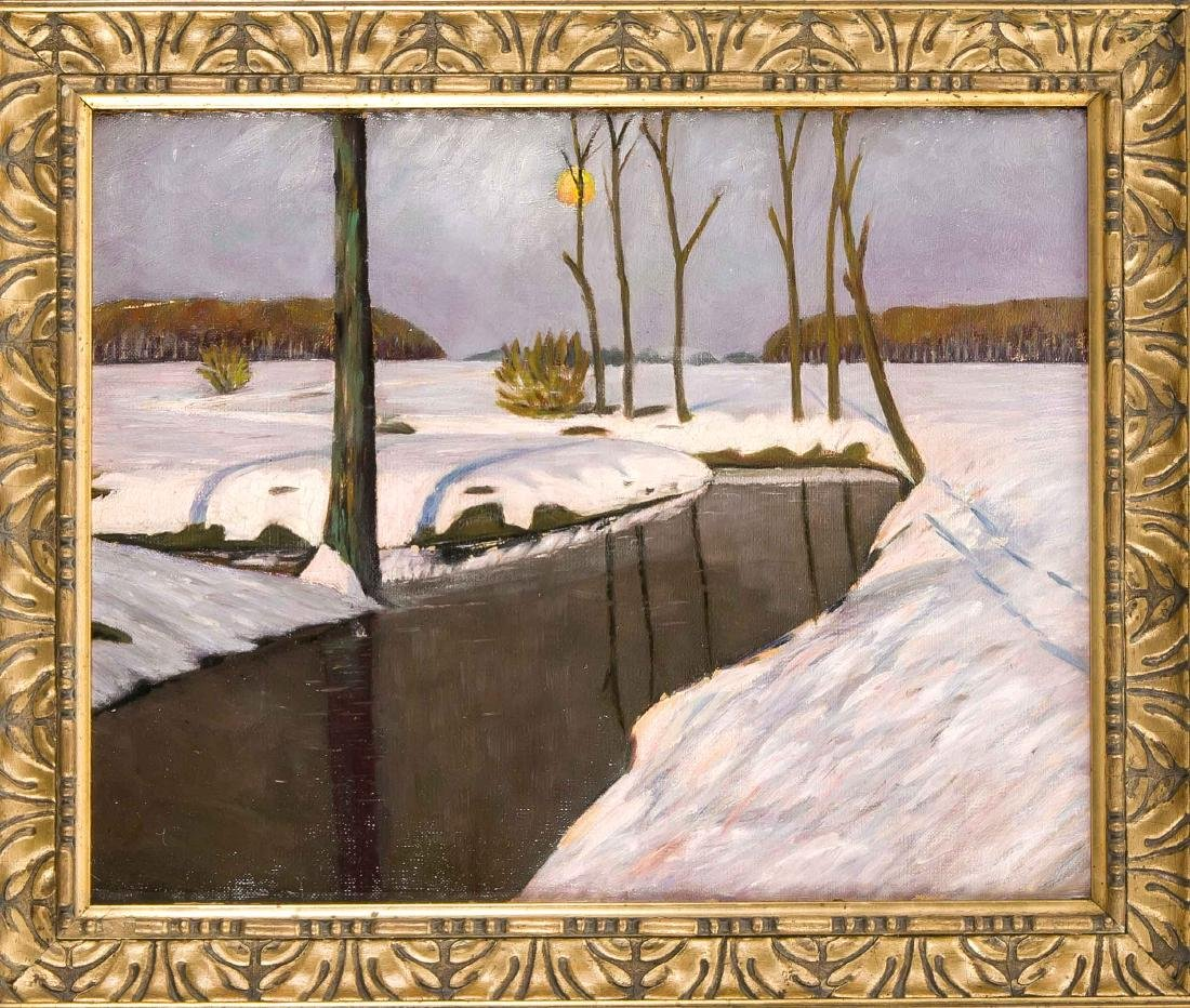 Anonymous landscape painter around 1910, winter