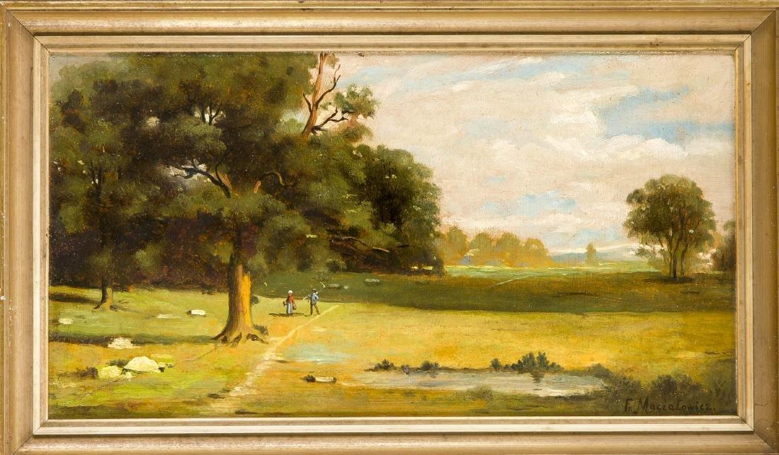 Fr. Maciatowicz, Maler um 1900, Landschaft am Waldrand