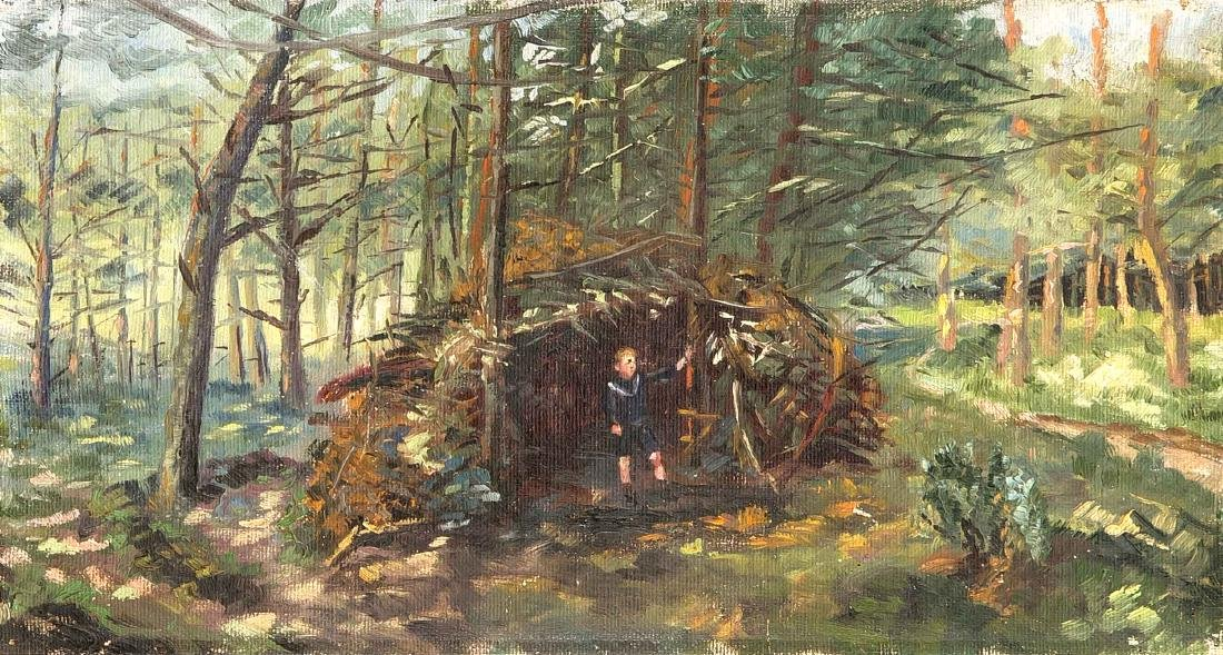Anonymer Maler Anfang 20. Jh., Waldstück mit