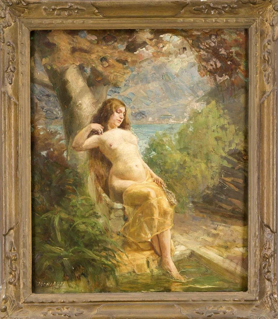 Monjauze, French painter around 1900,