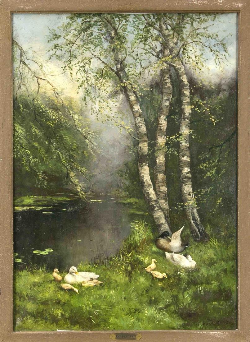 Constant Artz (1870-1951), Dutch duck painter, who