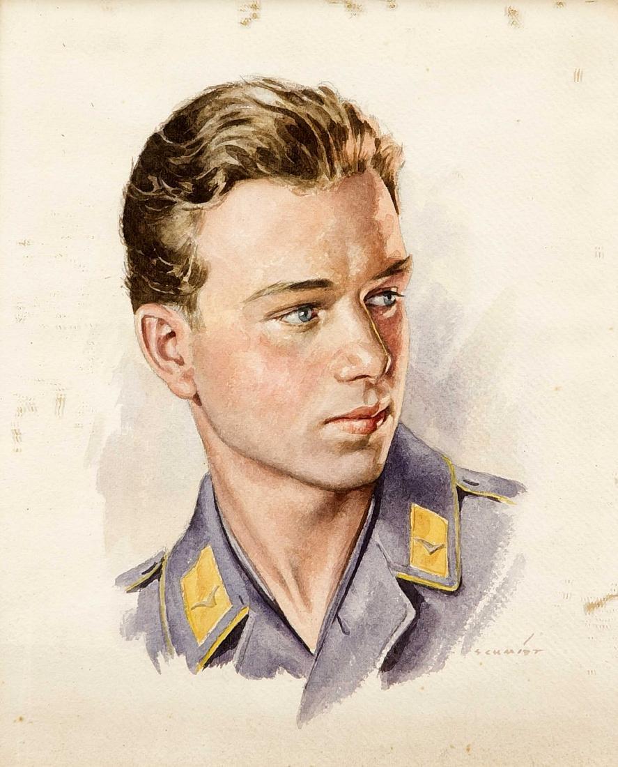 Sign. Schmidt, Bildnismaler um 1940, Portrait eines