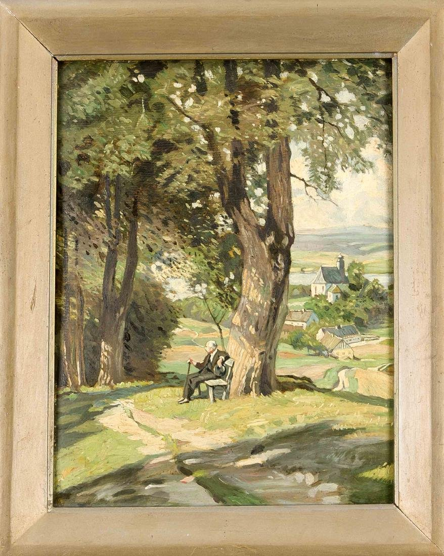 Anonymer Maler, wohl süddt. um 1910, Blick von einer