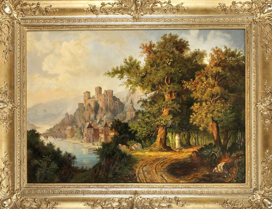 E. Böhnke, landscape painter of the 19th Century, large