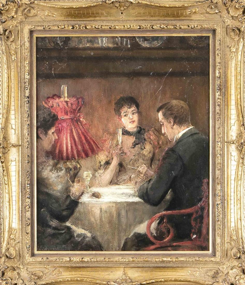 Carl Wilhelm Räuber (1849-1926), Munich genre painter,