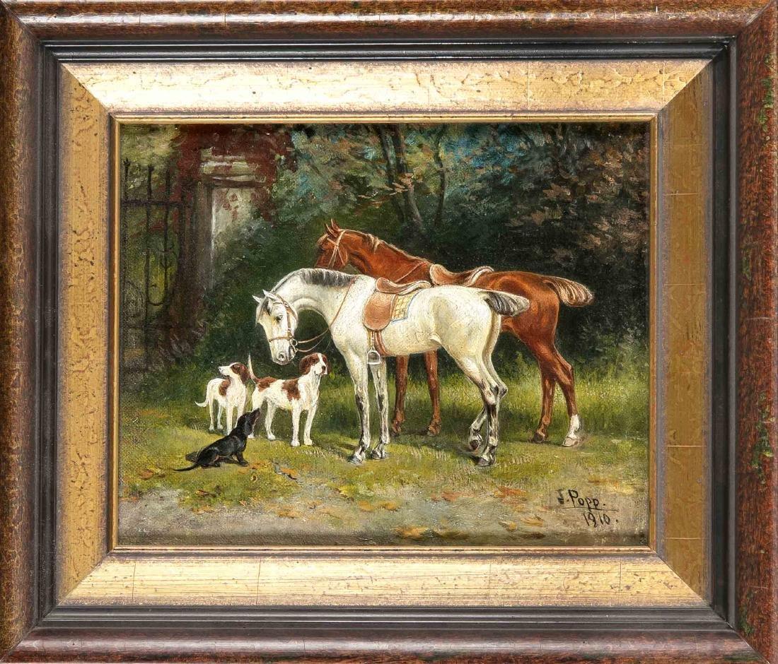 Jon Popp (1862-1953), genre, animal and portrait