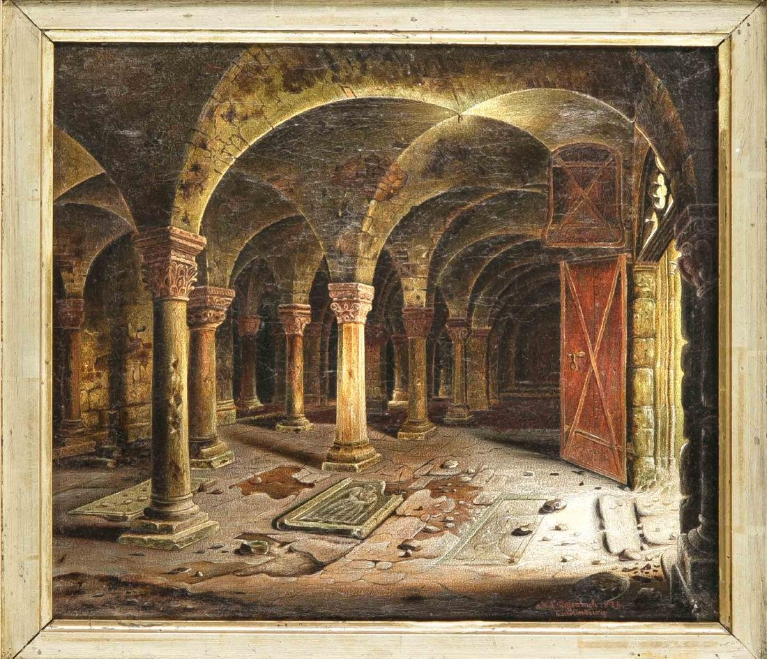 AHA. Tieffenbach, late 19th century, view of the crypt