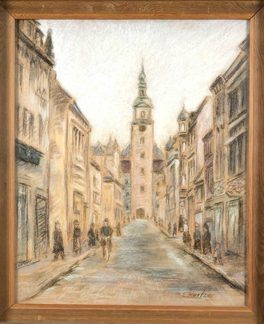 E. Kurtze, Lusatian painter 1st H. 20th century, view