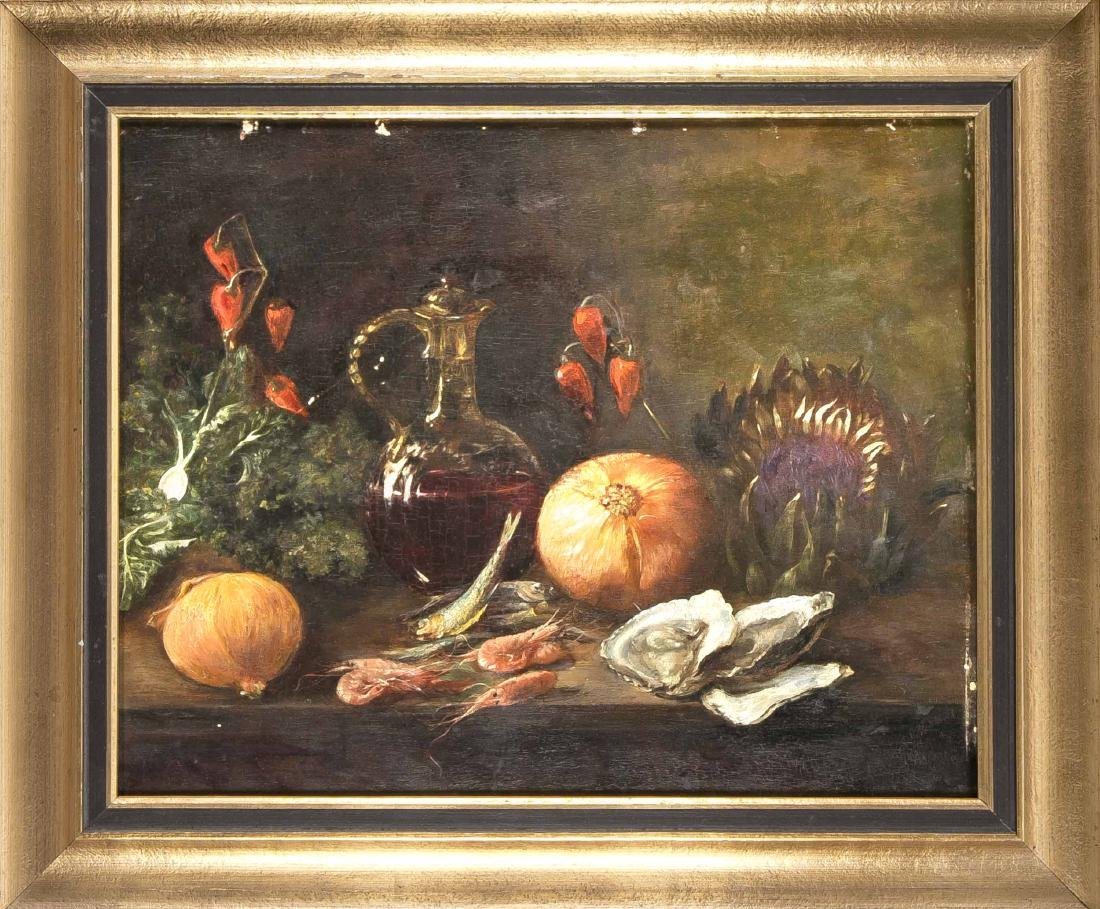 Anonymous painter of the 19th century, still life with