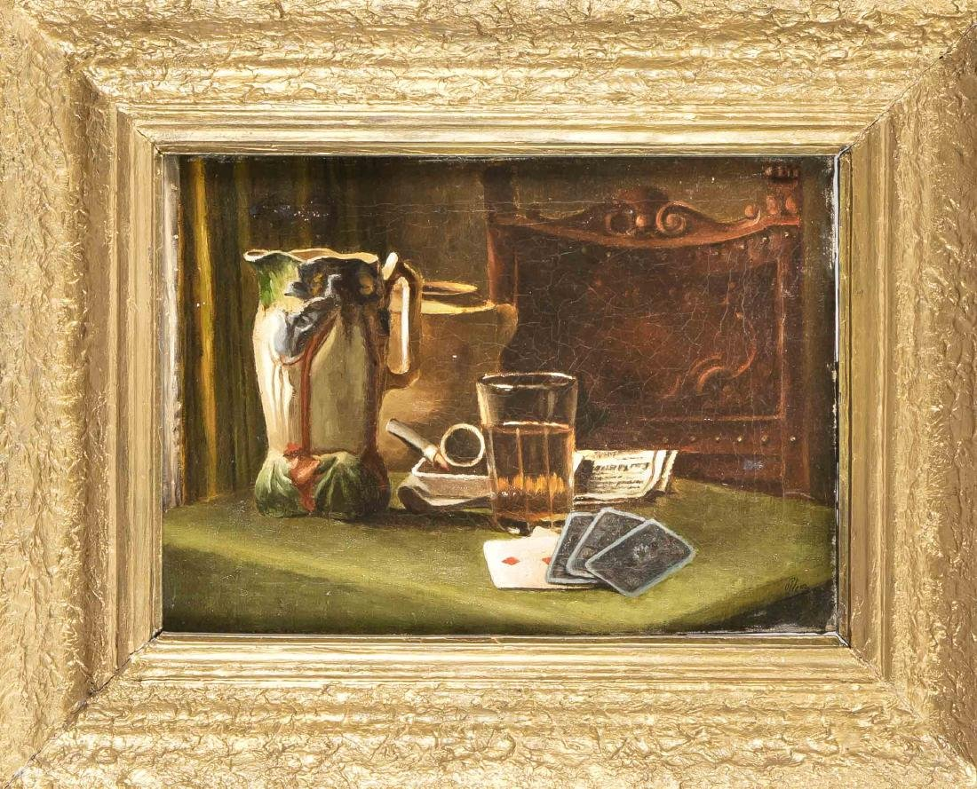 Sign. Plem, late 19th cent., Still Life with jug,