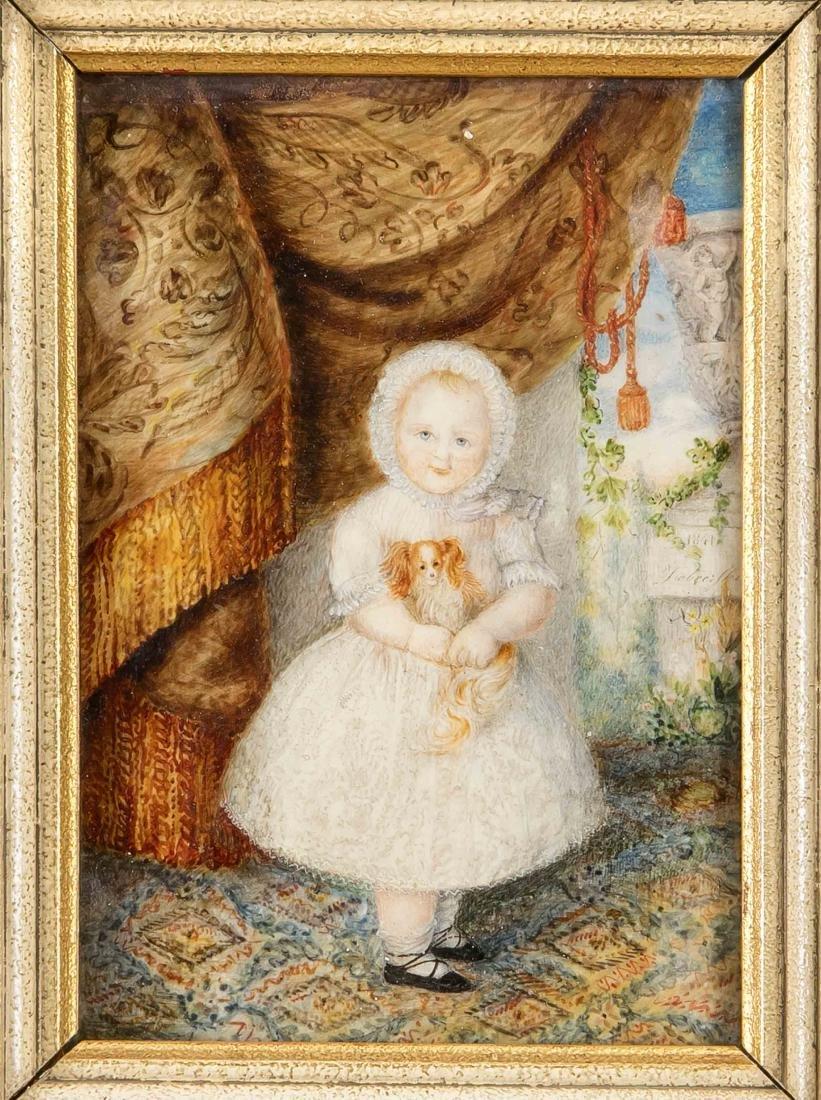 19th century miniature painter, whole figure of a noble