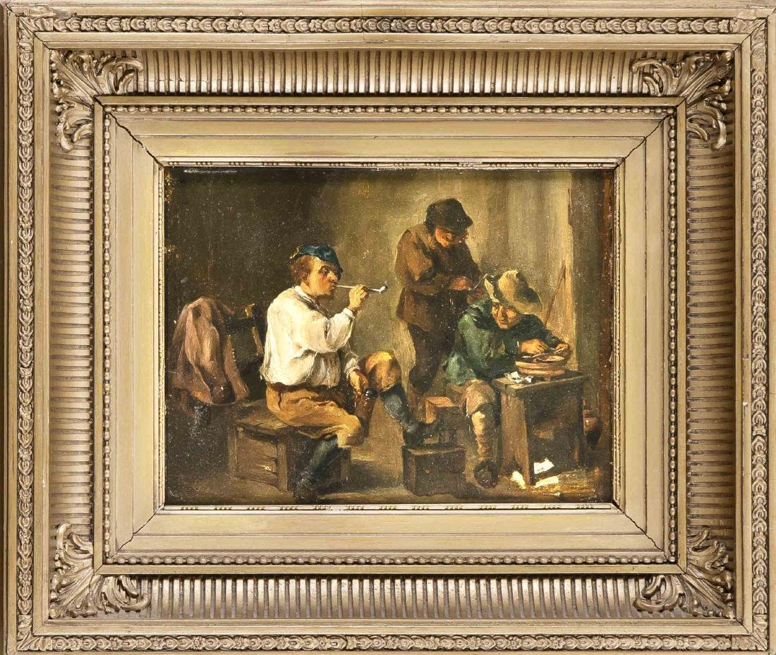 Anonymous painter of the 19th century, rustic tavern