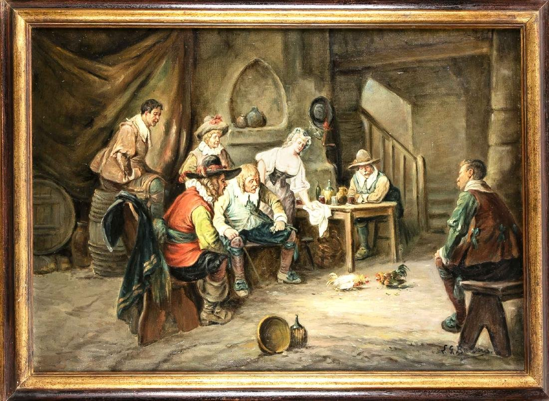 Unidentified genre painter late 19th century, tavern