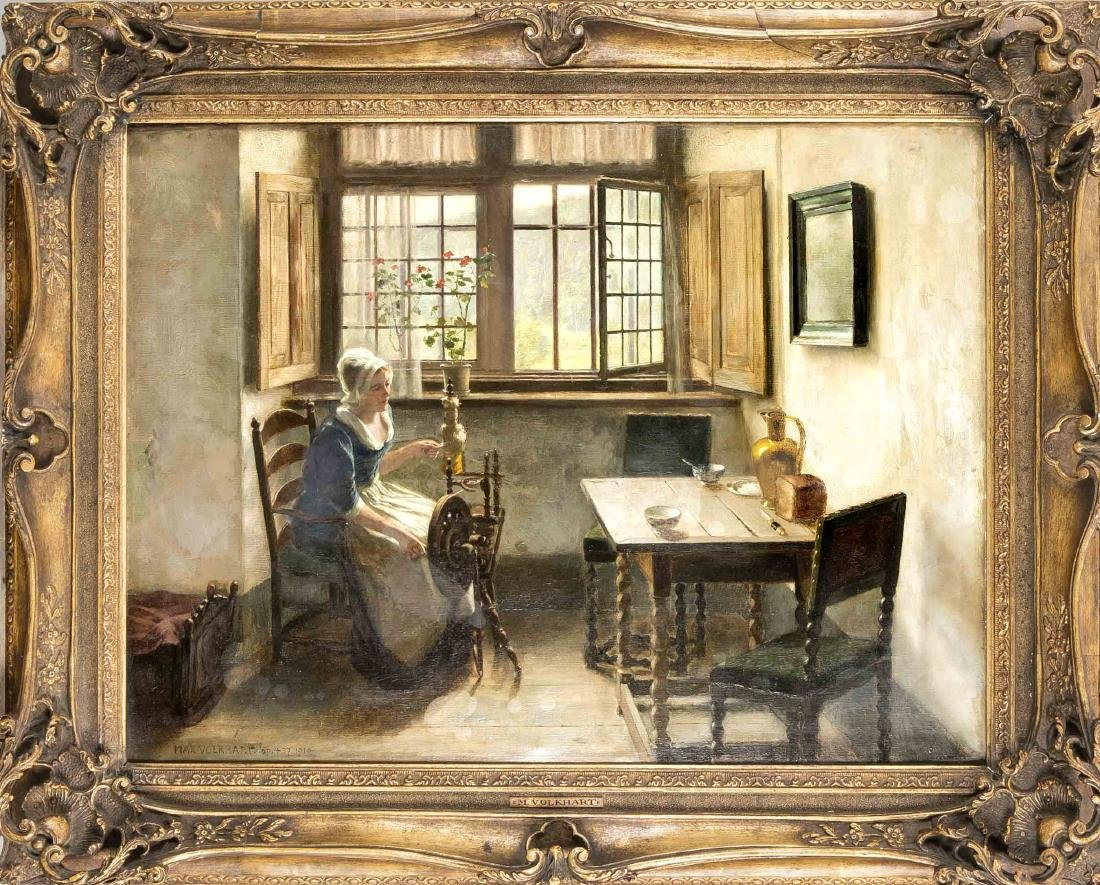 Max Volkhart (1848-1924), Dusseldorf genre and history
