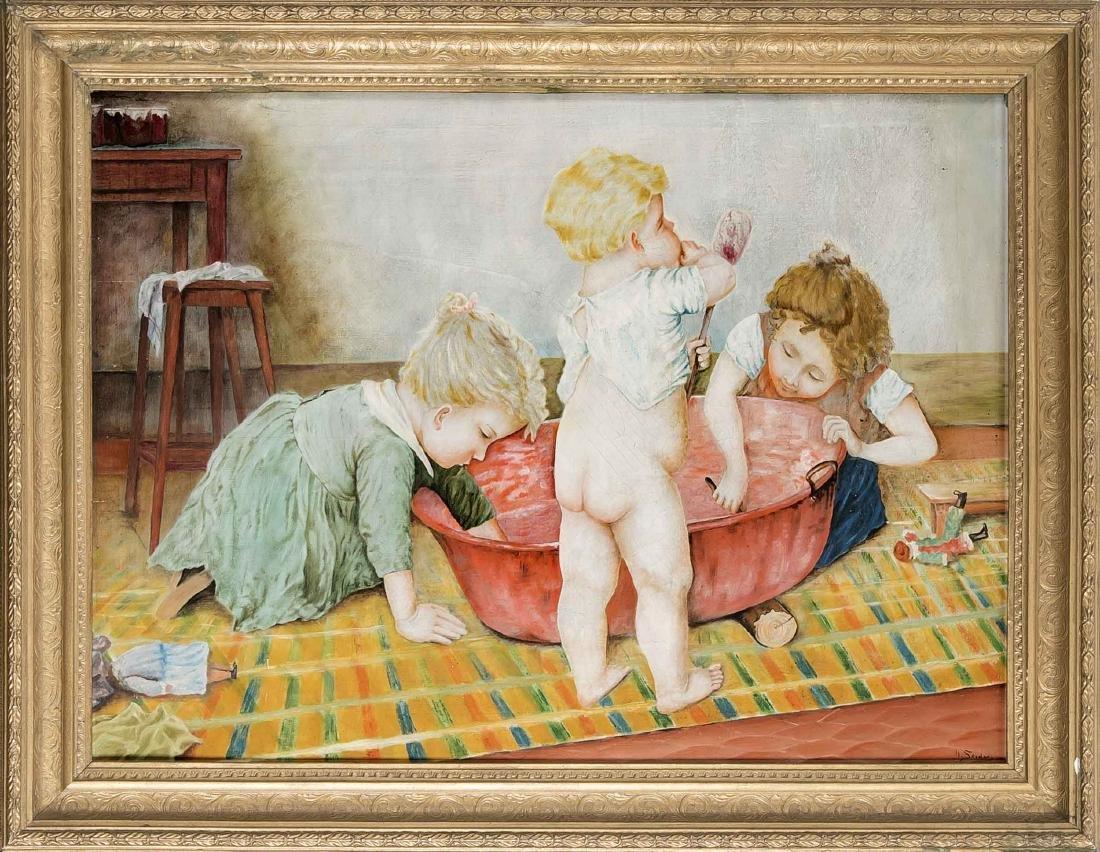 Sign. H. Steder, 1. H. 20. Jh., spielende Kinder,