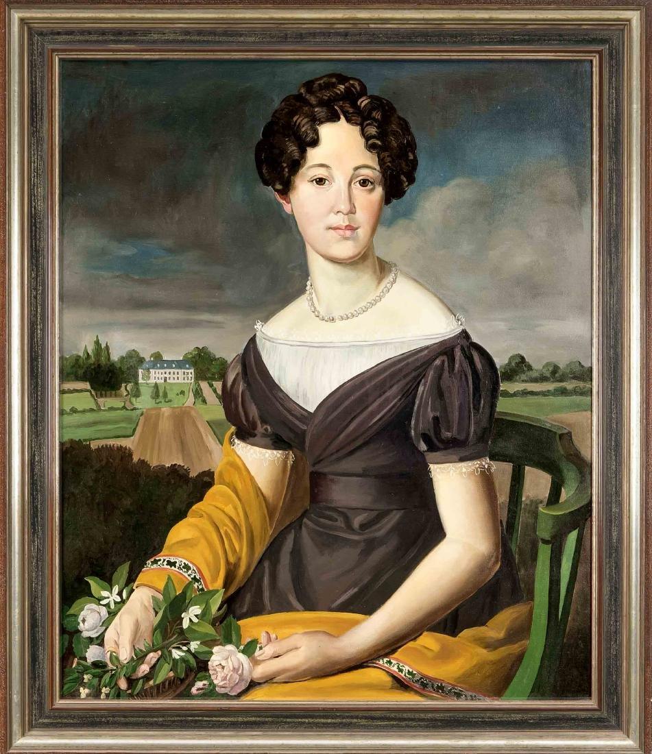 Copy after a Biedermeier portrait from 1827, ''Emilie