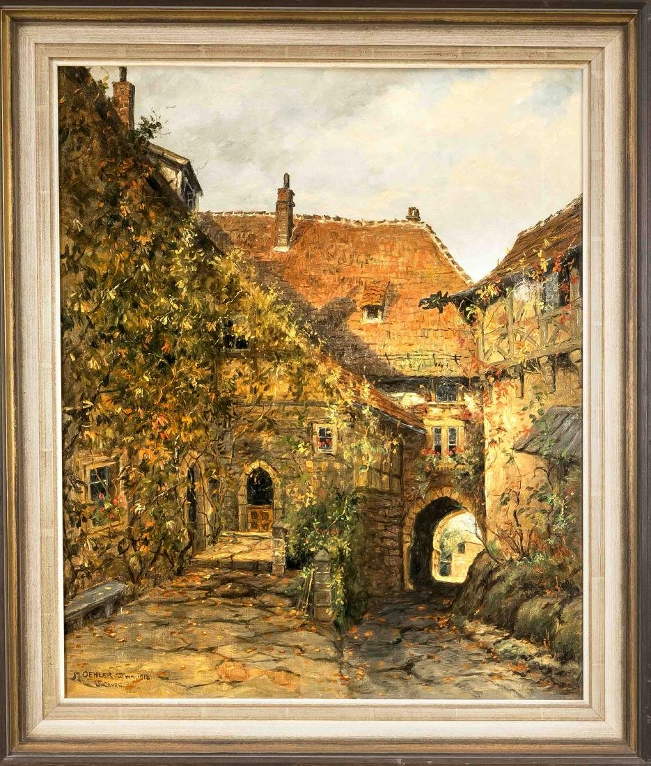 Max Oehler (1881-1943), Weimar painter, the court of