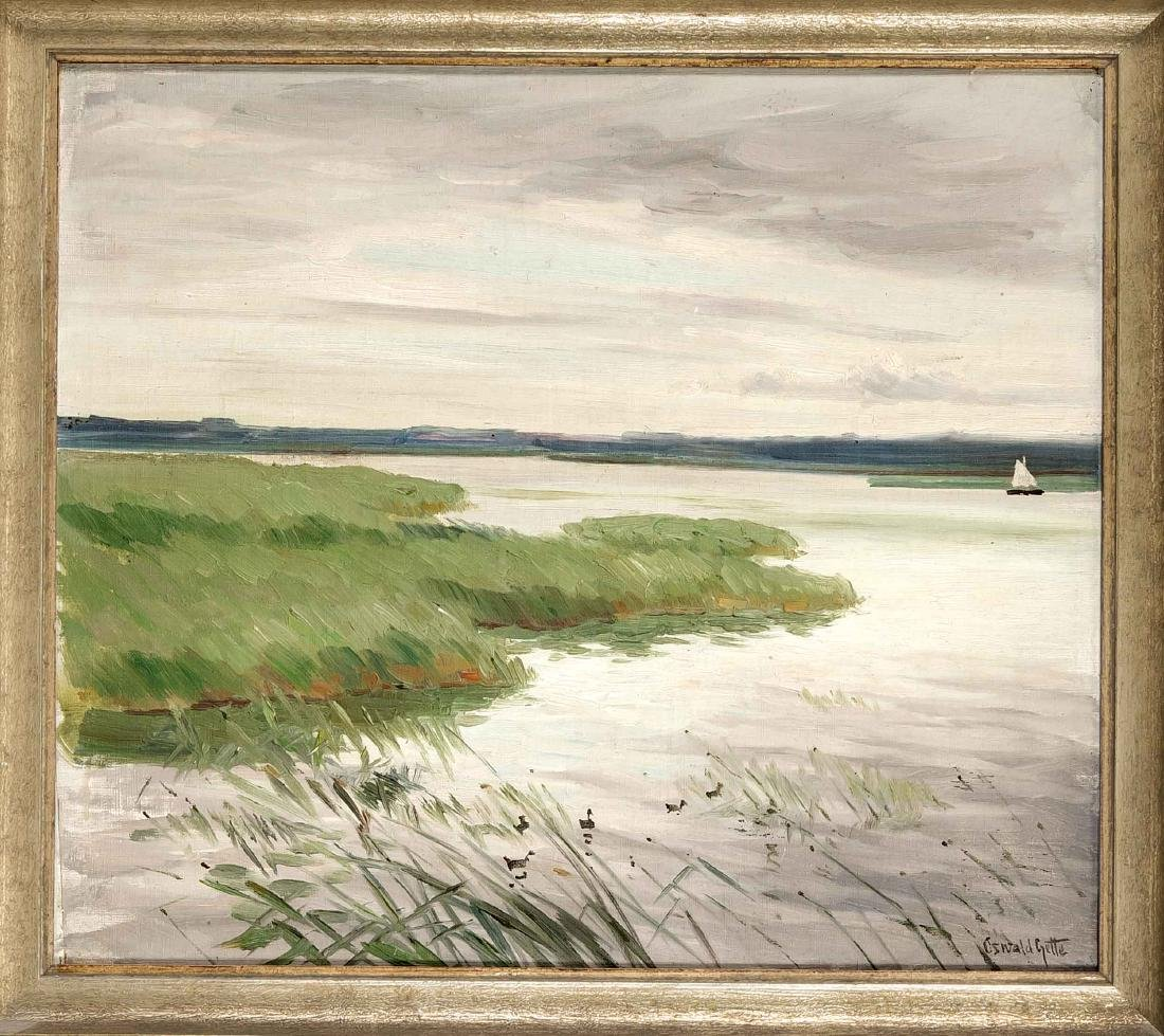 Oswald Gette (1873-1941), German landscape painter,